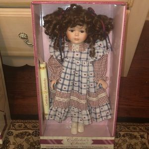 Limited edition porcelain doll